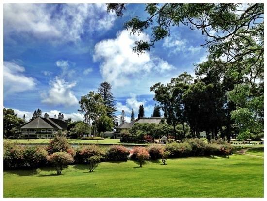 Four Seasons Resort Lana'i, The Lodge at Koele: the back of the Lodge