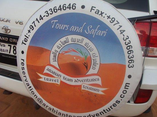 Arabian Team Adventures: Rear of the car