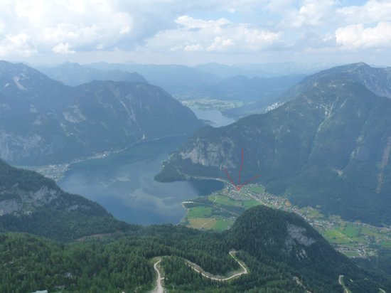 Resort Obertraun: View from the mountains on the resort part 2