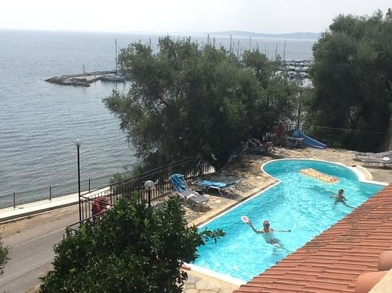 Dimitra Studios: pool area,taken in front of the main building
