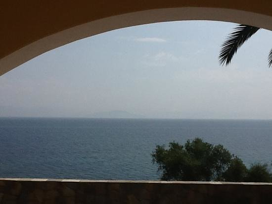 Dimitra Studios: view from the balcony of room 7