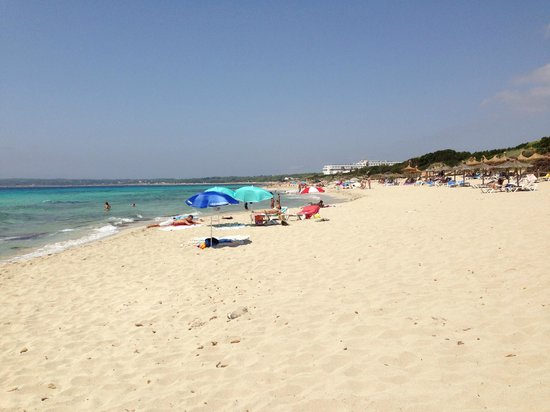 Beach platja de migjorn left side from hotel picture for Hotel formentera playa