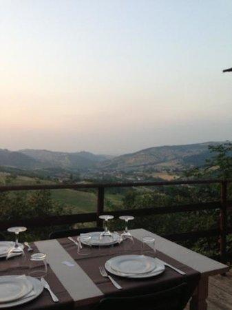 Casina, Italie : paesaggio dal Belvedere