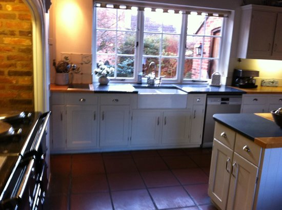 Rempstone, UK: The Aga is the focus of the kitchen