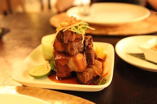 Sarong Restaurant: pork belly entree