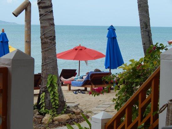 Hacienda Beach Restaurant: Le cadre vue sur mer!