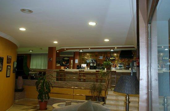 Hotel Los Galanes: Barra del bar restaurante