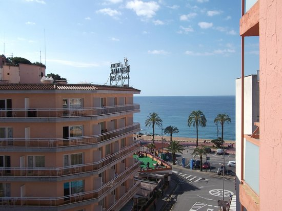 Hotel Mariner : widok z balkonu