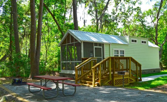 Skidaway Island State Park: One of our brand new Camper Cabins.