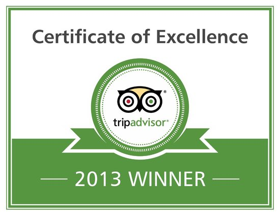 O'Driscoll's Bed & Breakfast: TripAdvisor Certificate of Excellence 2011/2012/2013