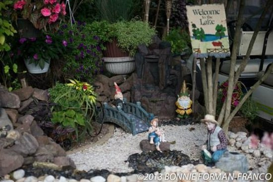Lake in Wood Resort: welcome gnomes