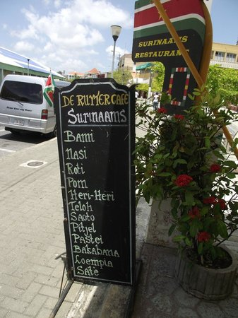 De Ruyter Cafe: TYPICAL SURINAME DISHES