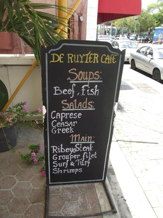 De Ruyter Cafe: TOURIST MENU