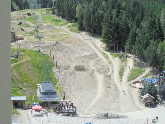 Pan Pacific Whistler Mountainside: Bike park from room