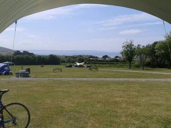 Cherry Tree Farm Campsite: view from our tent. fabulous