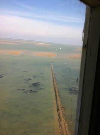 Phare de Cordouan : vue d'en haut à marée basse (le retour)
