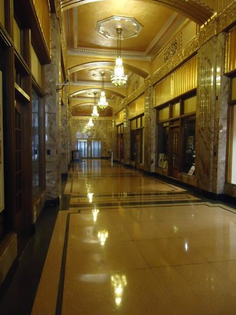 Mod's Coffee and Crepes: The Art Deco Hallway
