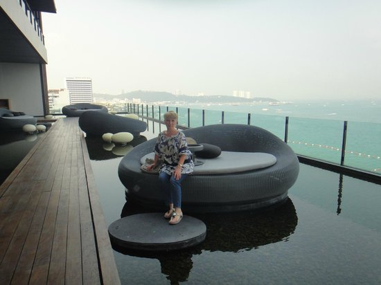 Hilton Pattaya: awesome view from bar terrace
