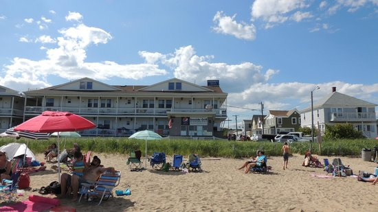 Normandie Oceanfront Motor Inn: The Motel from the beach