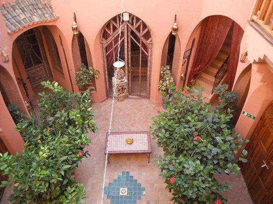 Riad Amira Victoria: from the room`s balcony