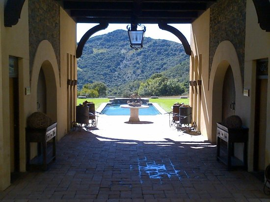 Dawson's Game and Trout Lodge: View to the pool