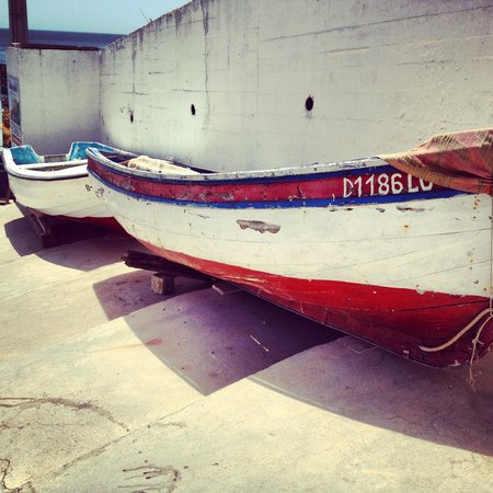 Casa Grande: Fishingboats in the village