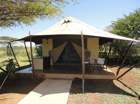 White Elephant Safari Lodge: The actual lodge, luxurious tented camp