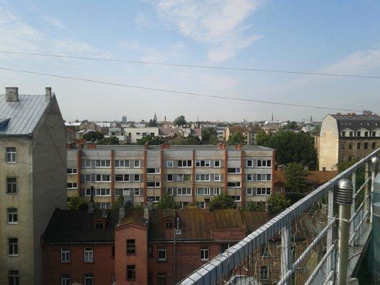 Baltpark Hotel: Вид с террасы на жилой район