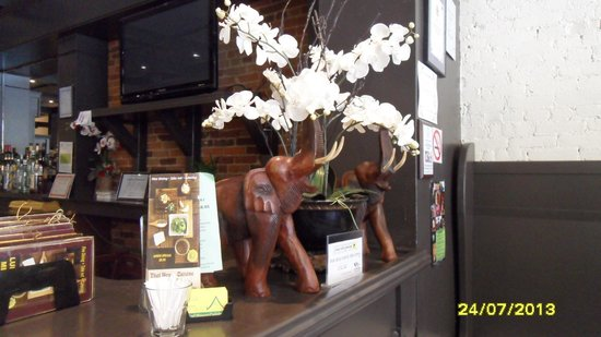 Thai House Cuisine - OPEN : decor by the front counter