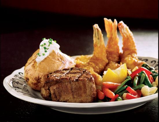 The Fireside Restaurant: Steak and Shrimp