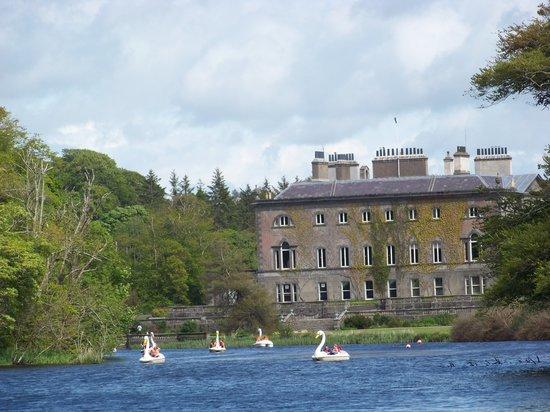 Westport House & Gardens : Westport house with Swan boats
