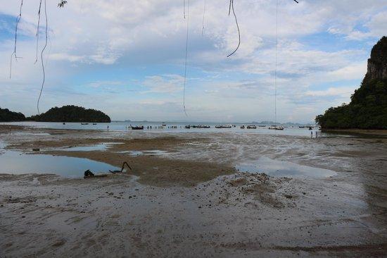 Ao Phra Nang: На Мао отлив, здесь была вода.