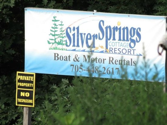 Silver Springs Cottage Resort: photo of sign on property