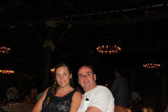 Mi esposa y yo en el Frascati