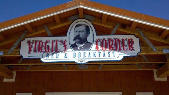 Virgil's Corner Bed & Breakfast: sign.