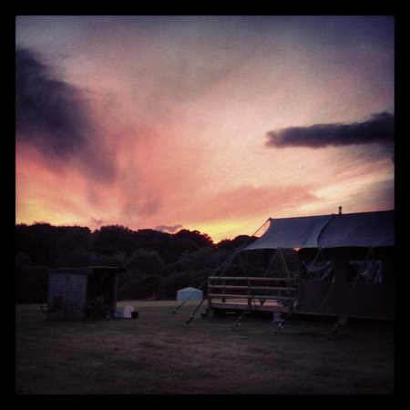 Cuckoo Down Farm: sunset?  you get in from morning till night