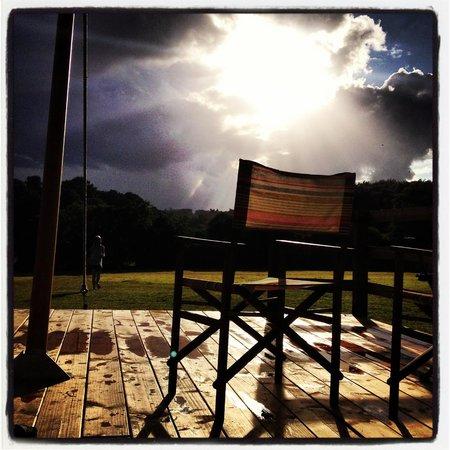 Cuckoo Down Farm: rain ? even nice when it rains