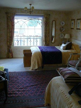 Gothic House: The twin room on top floor from door