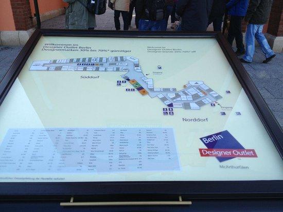 Designer Outlet Berlin: Mapa no local