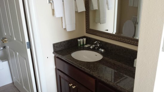 Staybridge Suites Akron-Stow-Cuyahoga Falls : Very nice vanity area with large closet on the other side