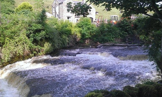 Riverside Bed and Breakfast: Waterfall in garden