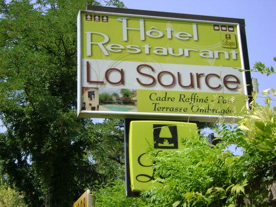 Hotel de la Source : l' enseigne