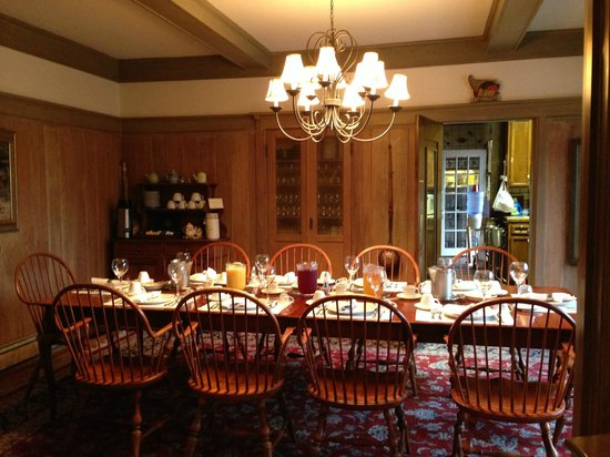 Red Crags Estates: Breakfast setting