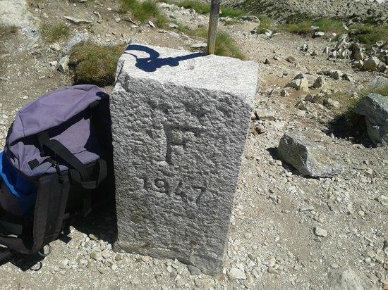 Santuario di Sant'Anna di Vinadio: Confini prima dei laghi Lausfer