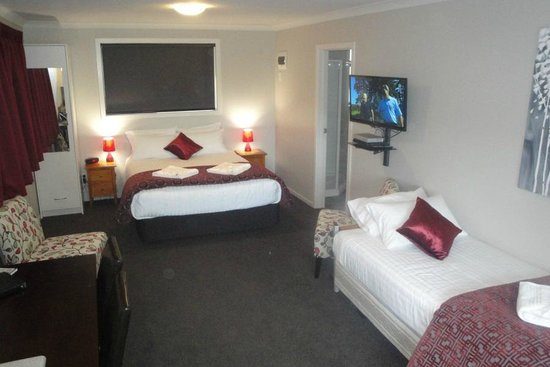 Matariki Motor Lodge: Queen Studio with extra single bed