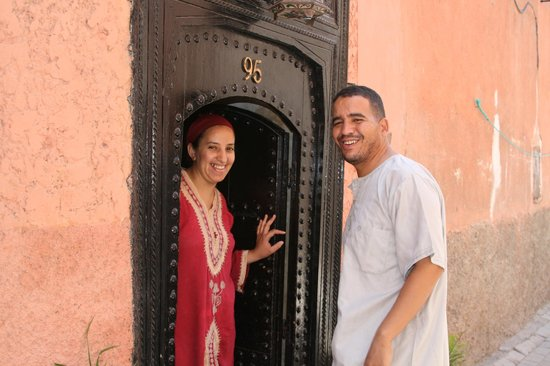 Staff from Riad Africa at the front entry.