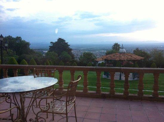 Mirador del Frayle Hotel: Vista desde la Recepción