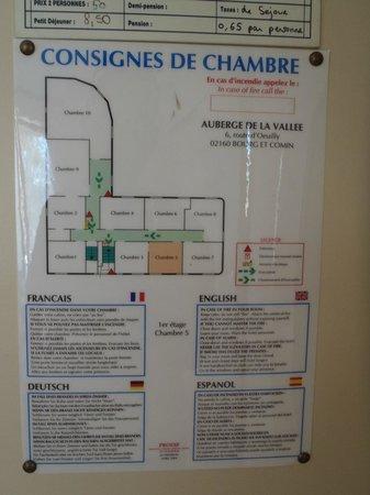 Auberge de la Vallee: Layout of rooms