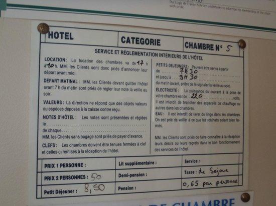 Auberge de la Vallee: Information