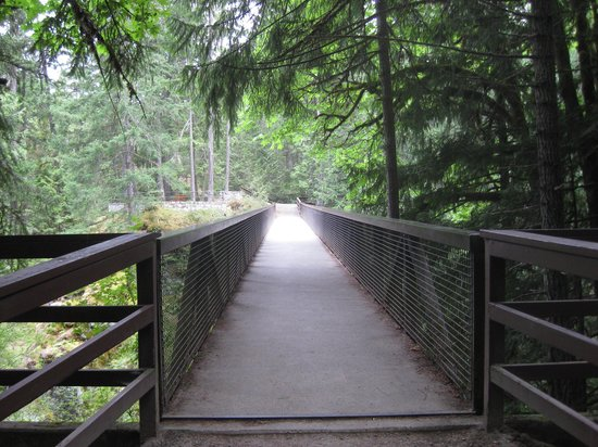 Nanaimo, Canadá: Bridge to other side of river and trails.